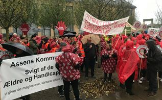 Demonstration i Assens foto: privat